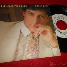 Discos de vinilo: ALEXANDER QUIEN/DIME LO QUE HACEMOS 7 SINGLE 1981 EPIC PROMO COMO NUEVO. Lote 54060197
