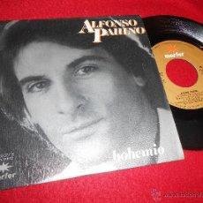 Discos de vinilo: ALFONSO PAHINO BOHEMIO/ME SIENTO HERIDO 7 SINGLE 1982 MARFER COMO NUEVO. Lote 54060777