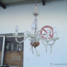 Antigüedades: LAMPARA DE CRISTALES. Lote 97677851