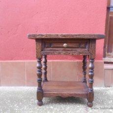 Antigüedades: RUSTICA Y ANTIGUA MESILLA DE MADERA.. Lote 54062496