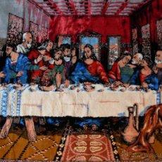 Antigüedades: ANTIGUO TAPIZ DE LA SANTA CENA DE GRAN TAMAÑO. Lote 54064582