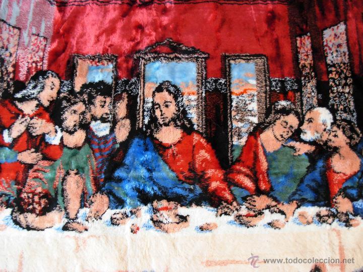 Antigüedades: Antiguo tapiz de la Santa Cena de gran tamaño - Foto 2 - 54064582