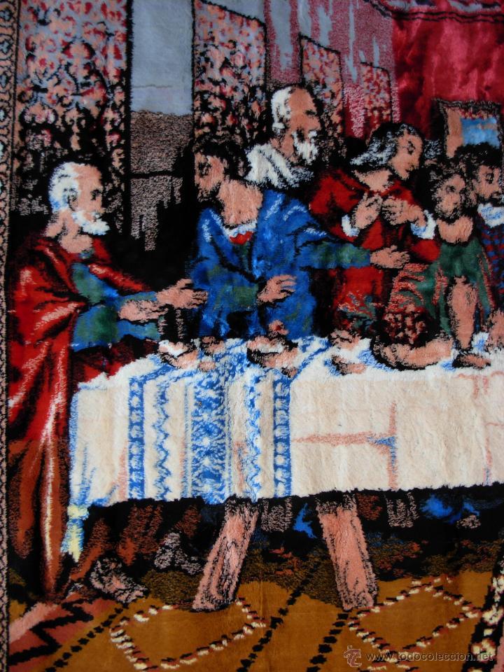 Antigüedades: Antiguo tapiz de la Santa Cena de gran tamaño - Foto 3 - 54064582