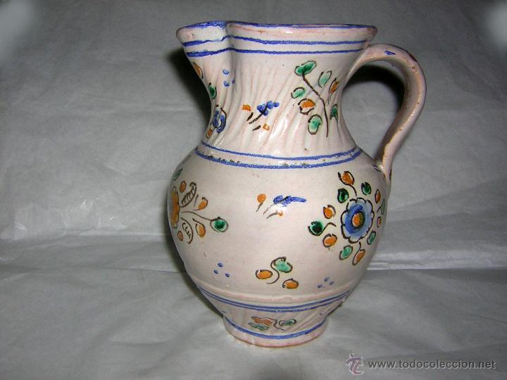 JARRA DE TALAVERA SELLADA NIVEIRO, S. XIX / XX (Antigüedades - Porcelanas y Cerámicas - Talavera)