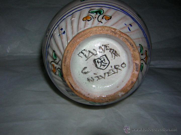 Antigüedades: JARRA DE TALAVERA SELLADA NIVEIRO, S. XIX / XX - Foto 6 - 54064872