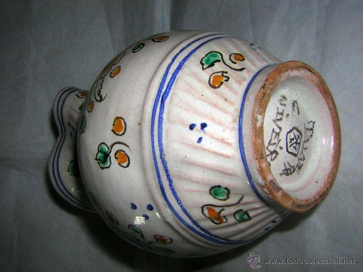 Antigüedades: JARRA DE TALAVERA SELLADA NIVEIRO, S. XIX / XX - Foto 8 - 54064872