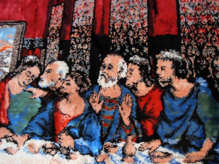 Antigüedades: Antiguo tapiz de la Santa Cena de gran tamaño - Foto 10 - 54064582