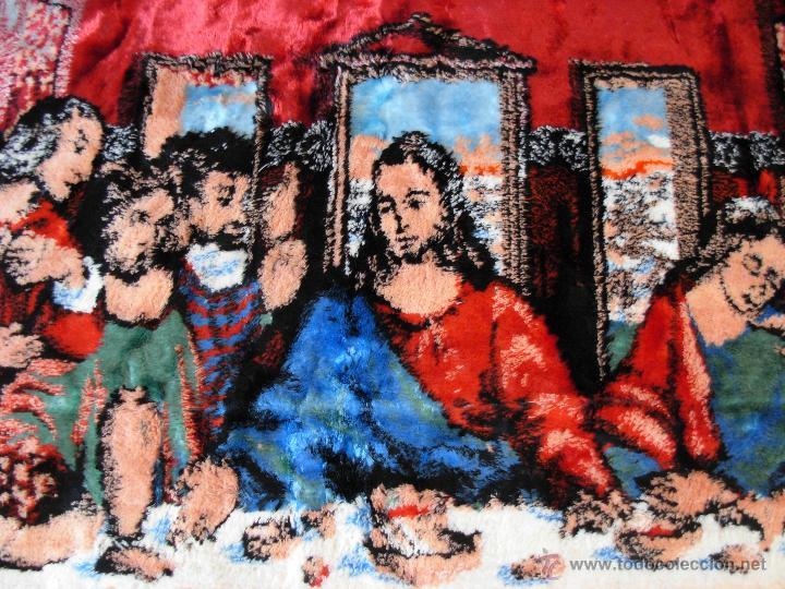 Antigüedades: Antiguo tapiz de la Santa Cena de gran tamaño - Foto 11 - 54064582