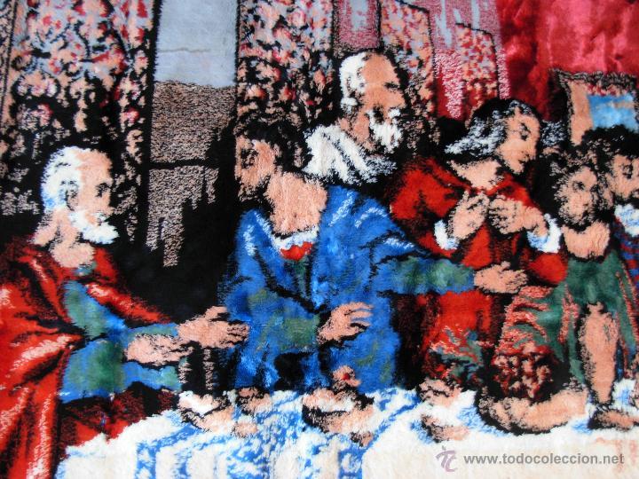 Antigüedades: Antiguo tapiz de la Santa Cena de gran tamaño - Foto 12 - 54064582