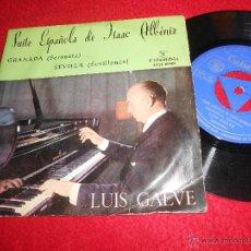 Discos de vinilo: LUIS GALVE PIANO SUITE ESPAÑOLA DE ISAAC ALBENIZ/GRANADA/SEVILLA EP 1962 COLUMBIA SPAIN. Lote 54068674