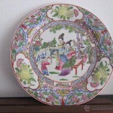 Antigüedades: PLATO JAPONES CON MARCA VEAN FOTOGRAFIAS Y DESCRIPCION. Lote 54073840