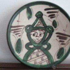Antigüedades: PLATO DE TERUEL MARCADO PUNTER. Lote 54079290