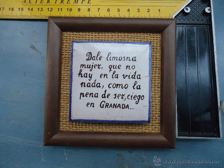 precioso marco con azulejo ceramico con poesia - Comprar Marcos ...