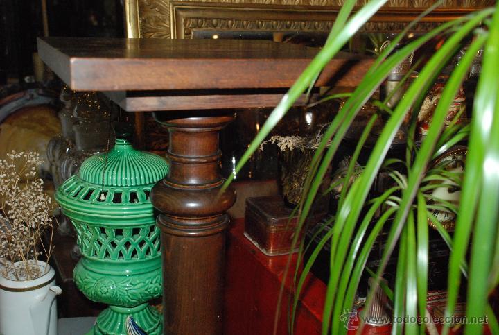 Antigüedades: ESPECTACULAR PAREJA DE COLUMNAS DE MADERA - Foto 2 - 54081285