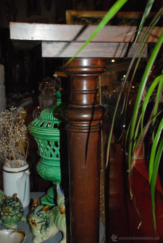 Antigüedades: ESPECTACULAR PAREJA DE COLUMNAS DE MADERA - Foto 3 - 54081285