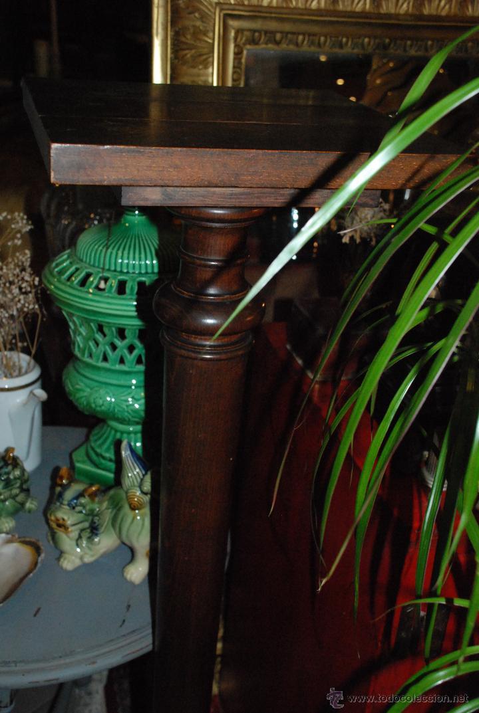 Antigüedades: ESPECTACULAR PAREJA DE COLUMNAS DE MADERA - Foto 4 - 54081285