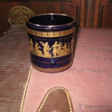 Antigüedades: PEQUEÑO VASO GRIEGO DECORACIÓN ORO MEDIDA 8 X 7,5 CM.. Lote 54083483