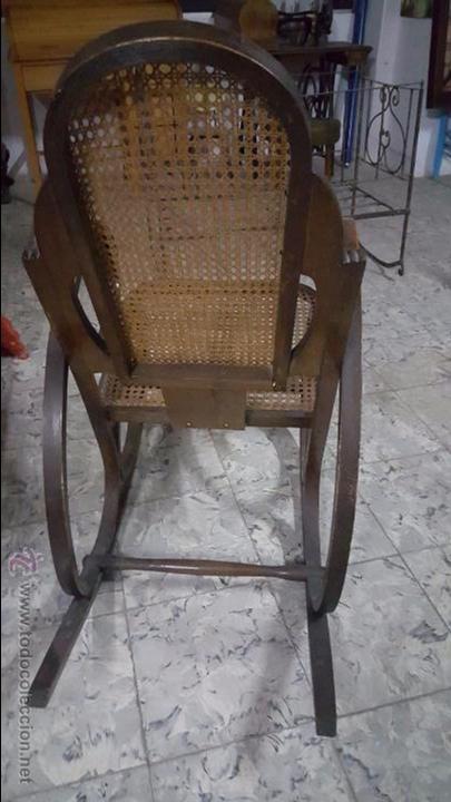 Antigüedades: ANTIGUA MECEDORA TIPO THONET - Foto 3 - 54088334
