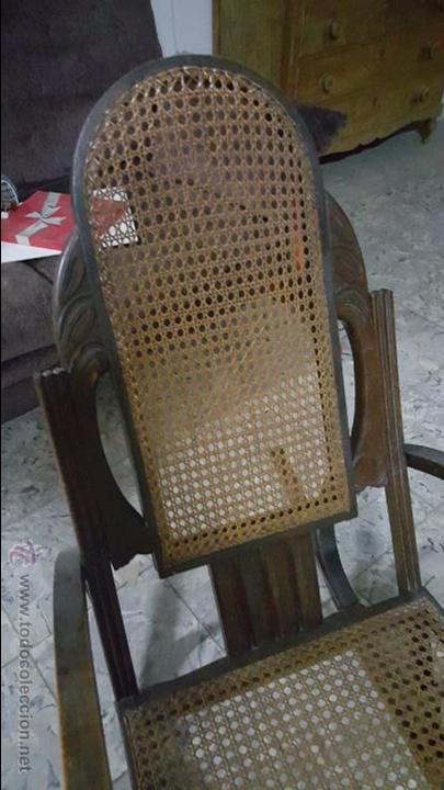 Antigüedades: ANTIGUA MECEDORA TIPO THONET - Foto 8 - 54088334