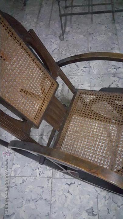 Antigüedades: ANTIGUA MECEDORA TIPO THONET - Foto 9 - 54088334