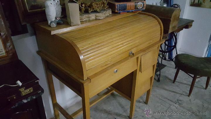 Antiguo escritorio o bur de persiana en buen comprar - Venta de escritorios antiguos ...