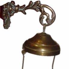 Antigüedades: ANTIGUA Y BONITA LAMPARA VOTIVA DE BRONCE Y LATON.. Lote 51927603