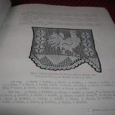 Antigüedades: MUY INTERESANTE Y ANTIGUO LIBRO DE GANCHILLO.EN INGLÉS. Lote 54094678
