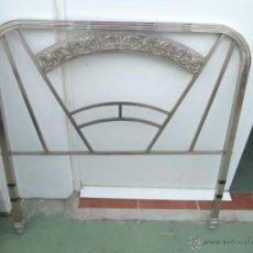 Antigüedades: CABECERO DE METAL CROMADO. Lote 54095727