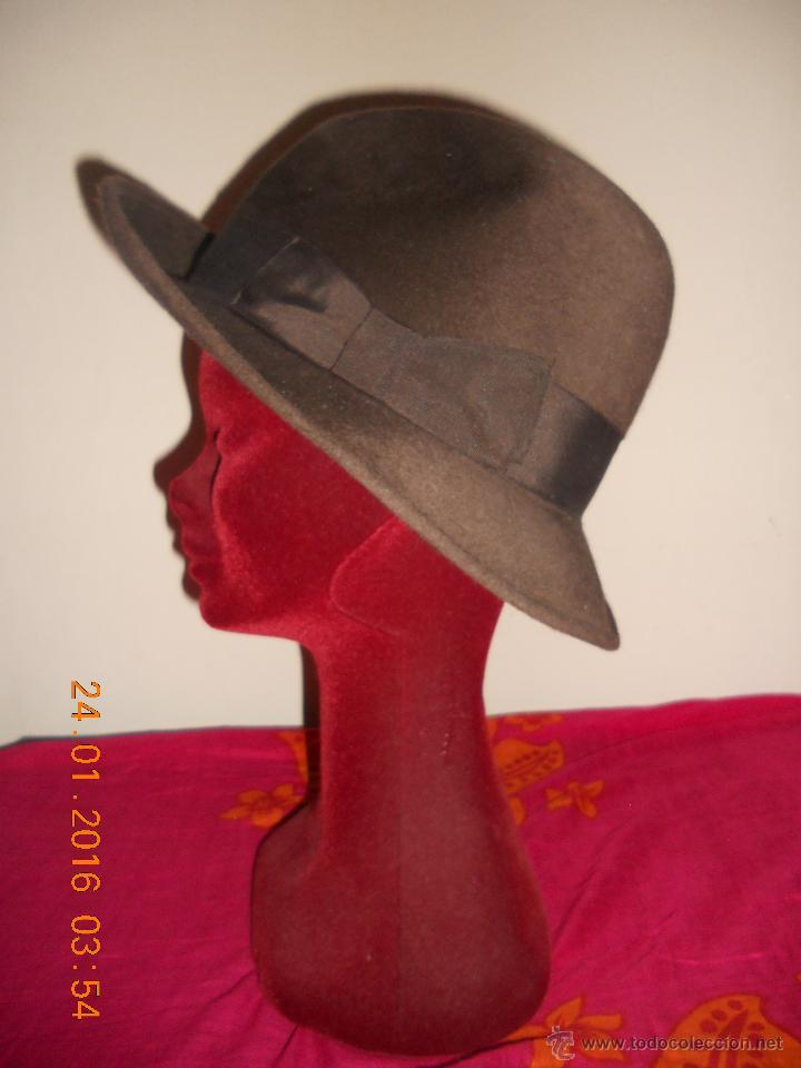 ANTIGUO SOMBRERO PANIZZA LUXE UTILUS PELIKAAN ITALIANO TALLA 57/58 . (Antigüedades - Moda - Sombreros Antiguos)
