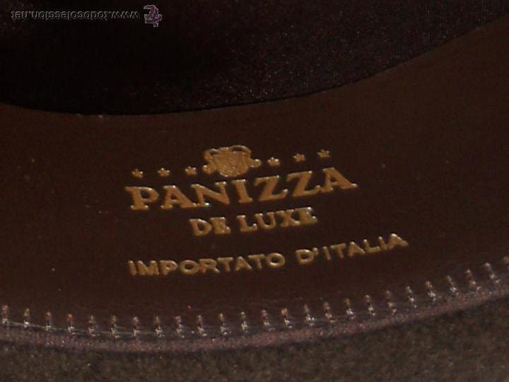 Antigüedades: ANTIGUO SOMBRERO PANIZZA LUXE UTILUS PELIKAAN ITALIANO TALLA 57/58 . - Foto 4 - 54105950