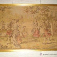 Antigüedades: BONITO TAPIZ CON ESCENA DE LA ÉPOCA DEL SIGLO XVIII FRANCES. Lote 54105960