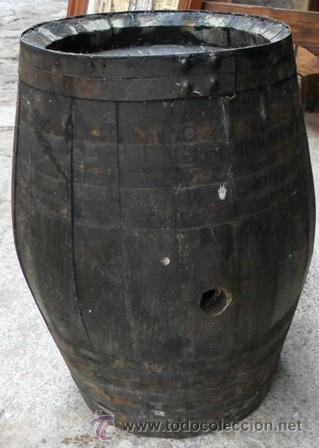 ANTIGUA BARRICA PARA VINO, 40 CM (Antigüedades - Técnicas - Rústicas - Utensilios del Hogar)