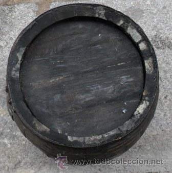 Antigüedades: Antigua barrica para vino, 40 cm - Foto 2 - 54117410
