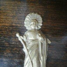 Antigüedades: SANTA DE BRONCE. Lote 54125424