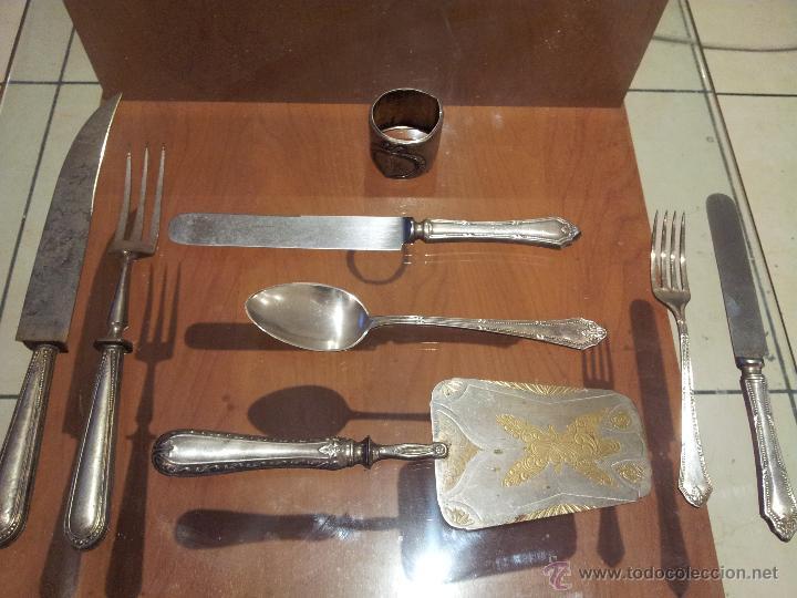 Cuberteria antigua meneses 52 piezas alpaca c comprar ba ado en plata antigua en - Cuberteria de plata precios ...