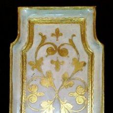 Antigüedades: BANDEJA DE MADERA, Y PAN DE ORO.. Lote 54130587