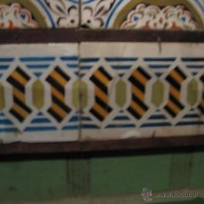 Antiquités: DOS AZULEJOS DE CENEFA CATALANA AÑOS 1900. Lote 54138801