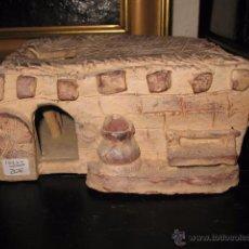Antigüedades: PRECIOSA CASA ROMANA DE BARRO O TERRACOTA SIN FIRMA MEDIDA 18 X 21 CM. ALTURA 10 CM.. Lote 54139745