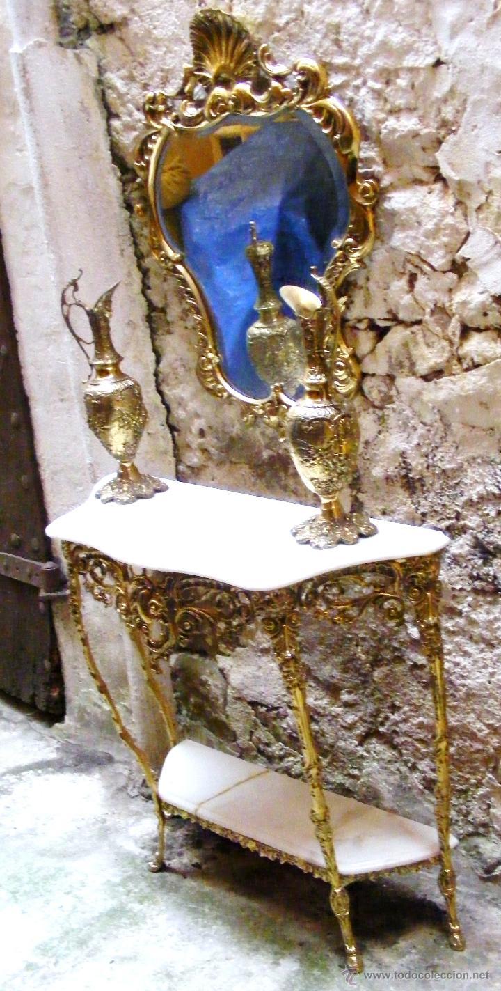 Antigüedades: RECIBIDOR ANTIGUO - BRONCE - Foto 2 - 54165864