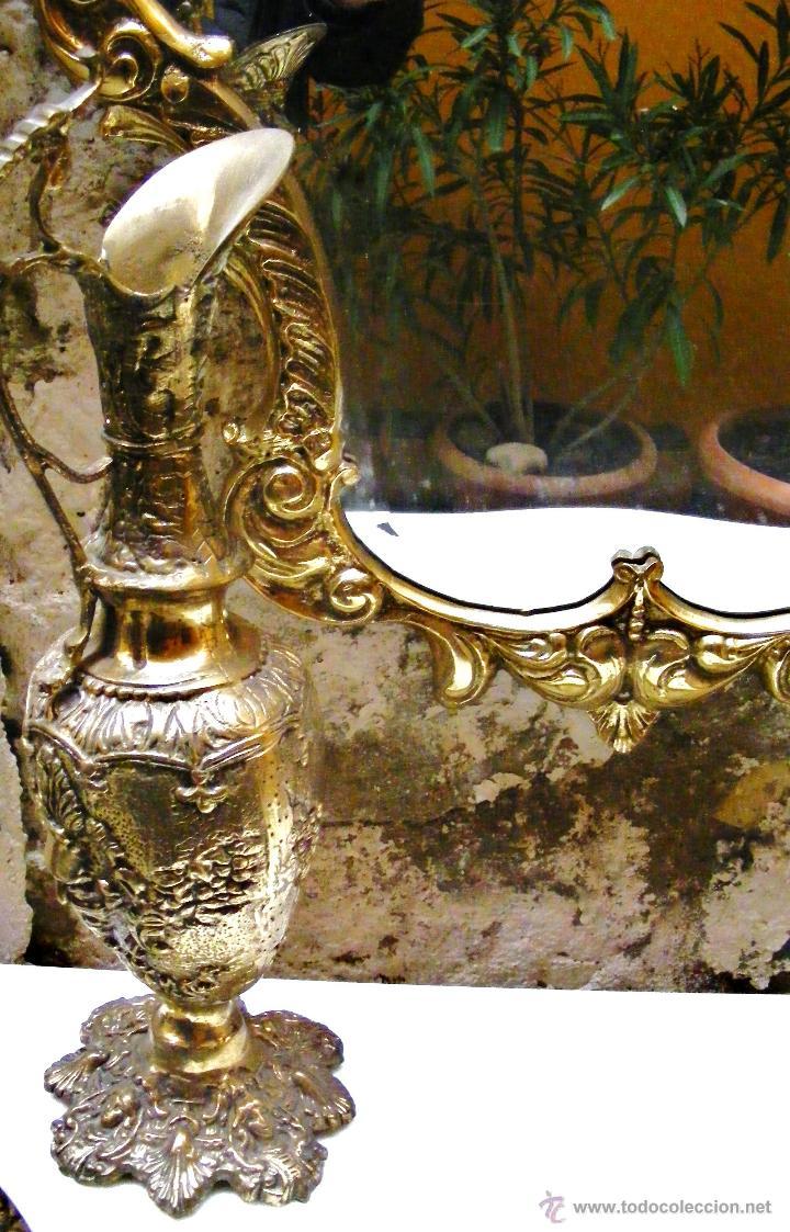 Antigüedades: RECIBIDOR ANTIGUO - BRONCE - Foto 6 - 54165864