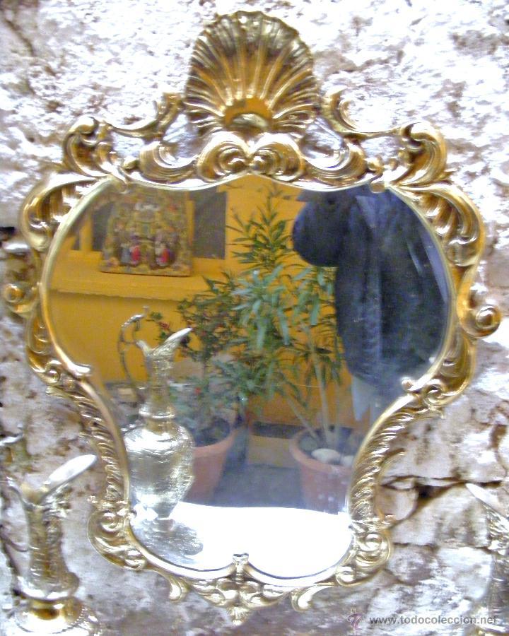 Antigüedades: RECIBIDOR ANTIGUO - BRONCE - Foto 11 - 54165864