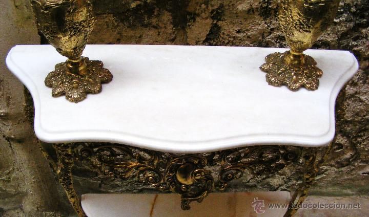 Antigüedades: RECIBIDOR ANTIGUO - BRONCE - Foto 18 - 54165864