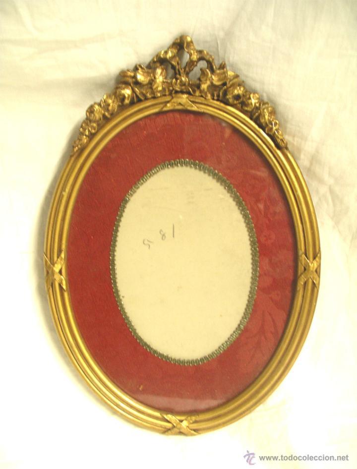 marco ovalado época isabelina, madera tallada y - Comprar Marcos ...