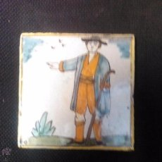 Antigüedades: AUTENTICO AZULEJO CATALAN DE ARTES I OFICIOS. Lote 54176691
