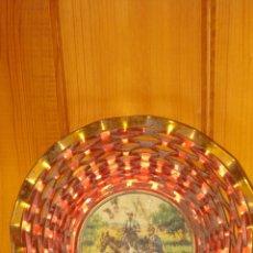 Antigüedades: ANTIGUA FRUTERO ,BANDEJA DE CHAPA LITOGRAFIADO. Lote 54177599