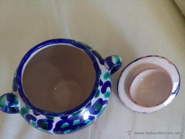 Antigüedades: Antiguo azucarero u orza cerámica Fajalauza - Foto 3 - 54181100