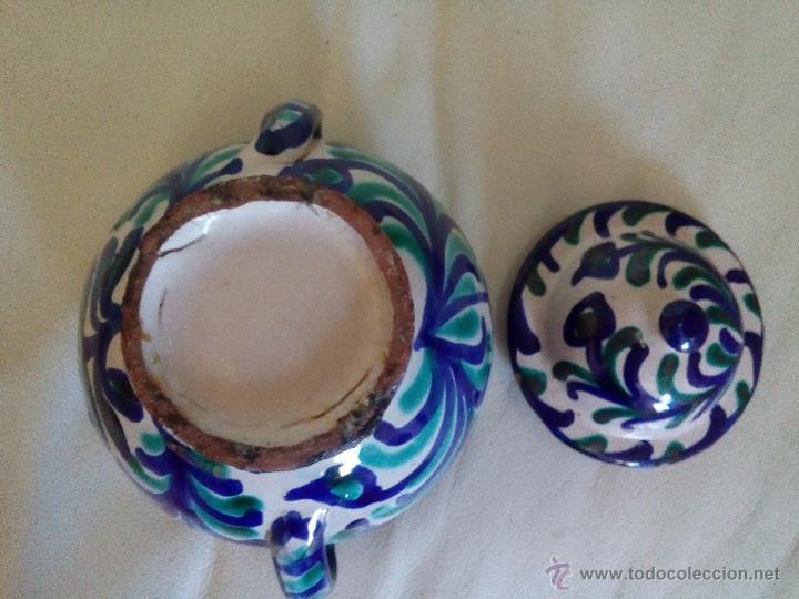 Antigüedades: Antiguo azucarero u orza cerámica Fajalauza - Foto 4 - 54181100