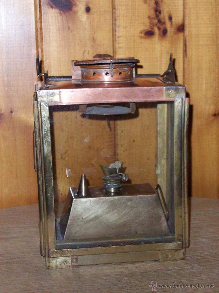 ANTIGUO FAROL FERROVIARIO DE ILUMINACIÓN INTERIOR DE UN FURGÓN (Antigüedades - Iluminación - Faroles Antiguos)
