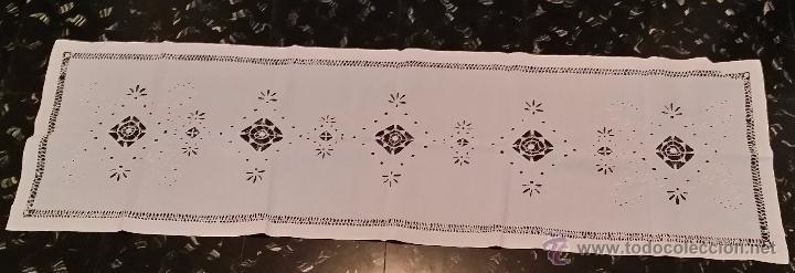 Antigüedades: Tapete antiguo - lino bordado - Foto 8 - 54192178