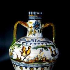 Antigüedades: GRAN CÁNTARO TRIANA - DECORACIÓN DE AVES ZANCUDAS S. XIX. Lote 54193598